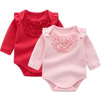spring autumn infant toddler 100% cotton casual style newborn girl rompers baby clothes clothing wholesale