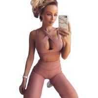 Wholesale Sexy Good Stretch Sports Bra Womens Yoga Pants Fitness Womens Gym Leggings Set