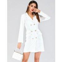 Hot Fashion Double Treasted Blazer Dress Women Casual