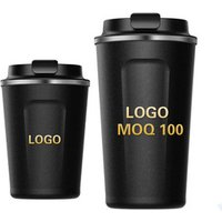 'Custom Logo Car Vacuum Thermos Travel Insulated Double Wall Tumbler To Go Reusable 304 Stainless Steel Coffee Mug Cup With Lid