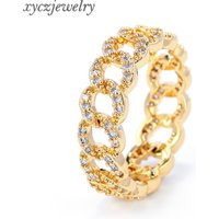 Hot New Gold Plated Jewelry Gold Plated Zircon Ring