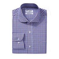 OEM high quality slim fit cotton plaid fabric dress men office shirts