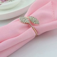 Fashion Gold Plated Crystal Rhinestone Napkin Ring For Table Decoration