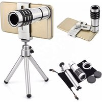 Siroka 12X HD zoom telescope monocular camera lens for cell phone with tripod
