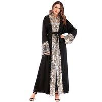 Muslim Wedding Dress Islamic Muslim Kaftan Abaya Ball Muslim Long Sleeve Maxi Sequin Dress