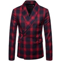 Male Skin For Sauna Latex Wool Plaid Fabric Jodhuri Italian Men Suit