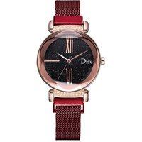 2019 Popular Luxury Brands Ladies Mesh Magnetic Strap Watches Quartz Dress Watch For Women