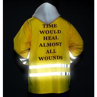 X87451B newest printed man reflective jacket for men windproof jacket coat