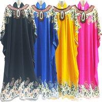 2019 New Fashion Islamic Cloth Dress For Women  Colorful Abaya Kaftan