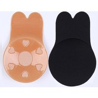 Popular Invisible Backless Adhesive Bra Wholesale Fabric Washable Rabbit Ear Breast Lift Up Bra