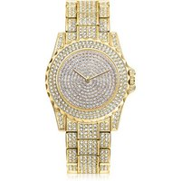 Wholesale Women Rhinestone Watches Lady Diamond Luxury brand Bracelet Wristwatch Lady Dress Watches Women Gold Watch