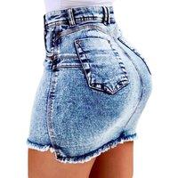 China factory low MOQ women short denim mini jeans skirt for ladies