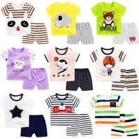 Toddler baby boy and girl clothing sets short sleeve t-shirts + shorts 2pcs casual baby clothes sets