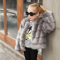 Fashion faux fur childrens jacket personality wild fur coat