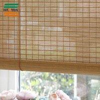 Korean design bamboo roller blinds sheer fabric roller curtain