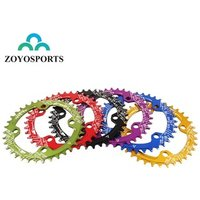 ZOYOSPORTS 104BCD Round Oval Shape Narrow Wide Bicycle Crank 32,34,36,38T MTB Chain Ring Chainwheel Bike Crankset Single Plate