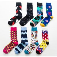 China Custom comfortable cotton soft mens dress socks of china socks factory manufacturer