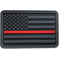 'High Recommended Best Seller 3d Us American Flag Emergency Rescue Thin Red Line Pvc Rubber Firefighter Patch