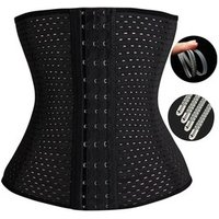 YIBISH Breathable Mesh Waist Trainer Body Shaper Corset Belly Shapewear#SY-0036