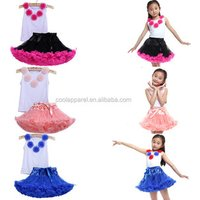 children girls birthday plain colour evening skirts and tops