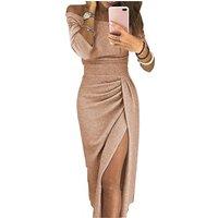New Fashion Hot Sale Sexy Off-Shoulder Sequined Evening Dresses Women Glitter Dress Women