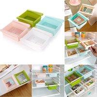 Slide Fridge Freezer Food Storage Boxes Basket Pantry Storage Organizer Bins Container Space-saving Rack Shelf Kitchen Tool
