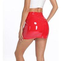 2019 Summer Multi Color Hot Sexy Lady Leather Skirt Shiny PU Mini Tight Skirt Women Wrap Skirt