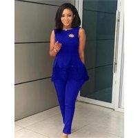 Africa Ladies Fashion Suits Formal  Women OL Suits Lace  Office Suit