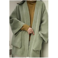 High Quality Oversize Imitated Mink Wool Women Coat With Adjustable Waist Faux Fur Coat