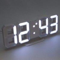 Large 3D Modern Digital LED Wall Clock 24/12 Hour Display Timer Alarm Home USB