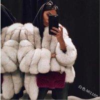 Coldker  Fall Cardigans for Women Ladies Warm Faux Fur Coat Jacket Solid Winter Gradient Parka Outerwear