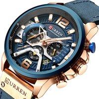 2019 Curren 8329 AliExpress Hot Sale Watches Men Wrist New Blue Belt Quartz Watch Factory Wristwatches Direct Sales Reloj Hombre