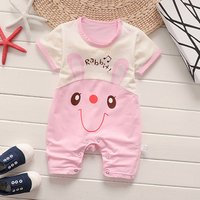 Baby summer clothes 100% cotton newborn baby clothes short sleeve toddler clothing