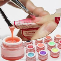 UV/LED Builder Gel Beauty Nail Extending 15ml UV Builder Gel, nude pink Builder UV Jelly Gel