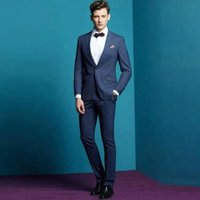 100% Wool Casual Design Leisure elegant suit male wedding suits for men