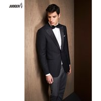 custom tailor made trendy office wearing business suit for men with 100% wool fabric
