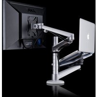 Multimedia Desktop 25 inch LCD Monitor Holder+ Laptop Holder Stand Table Dual Monitor Mount Arm desktop stand