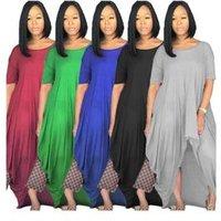 SACX017 short front long back asymmetric ladies wear casual clothes women vintage dress