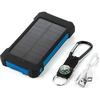 'Solar Power Bank Dual Usb Power Bank 20000mah Waterproof Battery Charger External Portable Solar Panel With Led Light