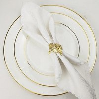 gold and silver angel wings napkin rings