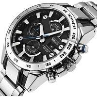 Temeite Watch New Fashion Quartz Mens Watch Three Eyes Six Needle Multi-function Waterproof Mens Sports Watches Men Wrist