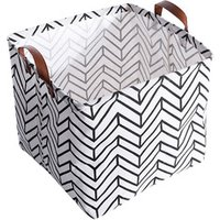 Square Canvas Toy Storage Bins Basket with Handle Collapsible Toy Organizer