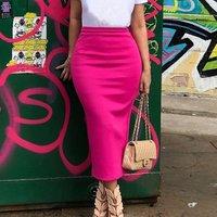 Summer New Casual Women Half-Length Skirt After fork Color Solid Short Sleeve Maxi Dress OL pencil  package hip skirt D-8247