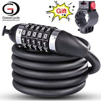 Anti-theft 5 Password Combination Bicycle Cable Chain Bike Lock