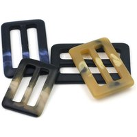 yiwu factory 50mm matt effect rectangle resin belt buckle for coat