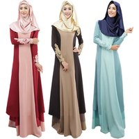Newest Turkey Islamic Clothing Elegant Women Casual Long Muslim Evening Dress