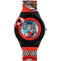 Skmei Popular Plastic Wrist Watches For Kids Boy Fashion Car Watch Children Digital Waterproof