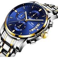 Luxury Men Wrist Watches Business Calendar Analog Clock Stainless Steel Waterproof Olmeca 0826 Brand Chronograph Quartz Watch