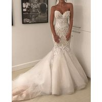 2019 Vestido de novia Top 100 Wedding Dresses Sexy Mermaid Bridal Gowns Beaded Afraic Wedding Dress Robe de mariage