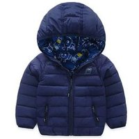 P0119 Custom Animal and Cartoon Print Heavy And Warm Boys Jacket,Reversible and 2-face jacket For Childrens Clothing